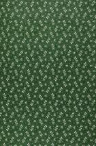 Papel pintado Aimee Mate Hojas pequeñas Puntitos Verde hoja Blanco