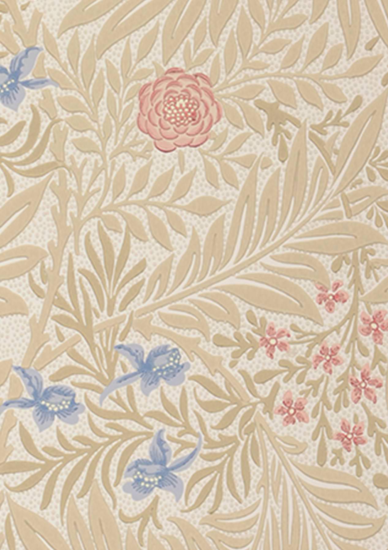 Tapete kari weiss beige beigerot brillantblau for Tapete weinrot muster