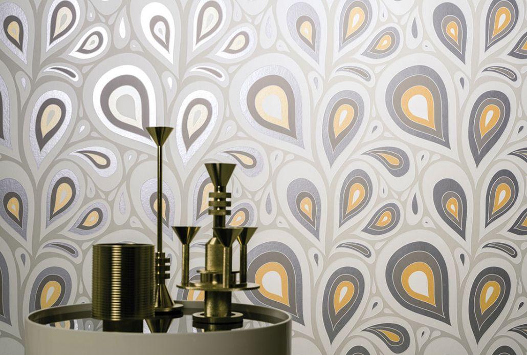 Archiv Papier peint Celestia gris beige clair Vue pièce