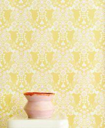 Papel de parede Estelle amarelo pálido