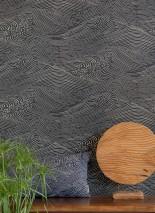 Wallpaper Ulevan Matt Waves Black grey Light ivory