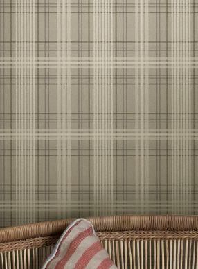 Papier peint Malte gris olive Raumansicht