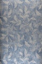 Wallpaper Ebru Shimmering Leaf tendrils Blue grey Light grey shimmer Pebble grey shimmer