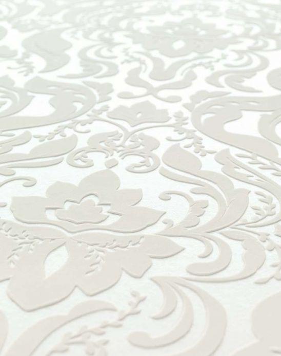Archiv Papier peint Sennin blanc crème Vue détail