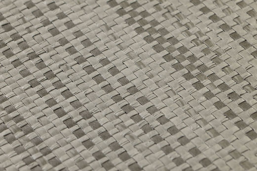 Archiv Wallpaper Paper Weave 01 quartz grey Detail View