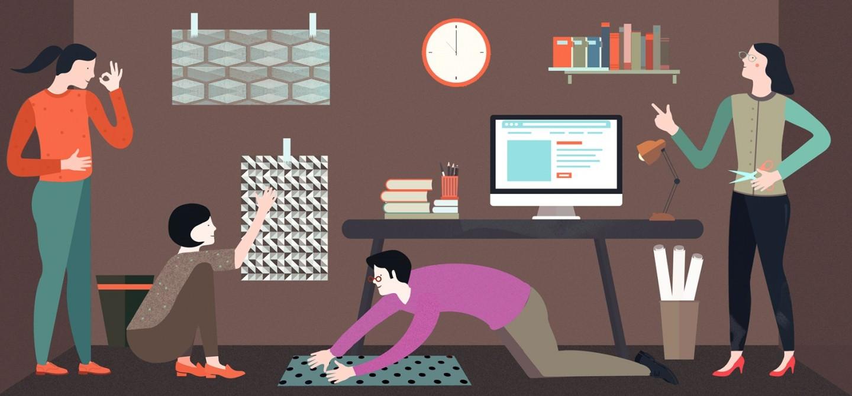 Du papier peint pour l'étude ou le bureau à la maison — la bonne décision pour un flux de travail optimal