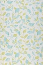 Wallpaper Wirsgo Matt Leaf tendrils White Pastel green Pastel turquoise