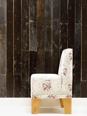 Papel pintado Scrapwood 05 tonos de marrón grisáceo Ver habitación
