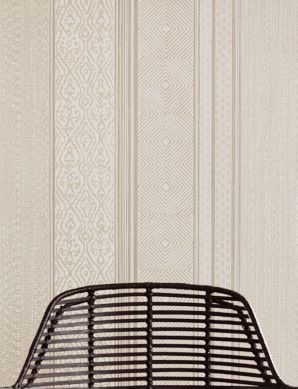 Wallpaper Cemal beige grey shimmer Room View