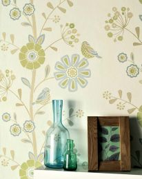 Wallpaper Lorena yellow green