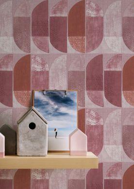 Papel de parede Juniper violeta avermelhado Raumansicht