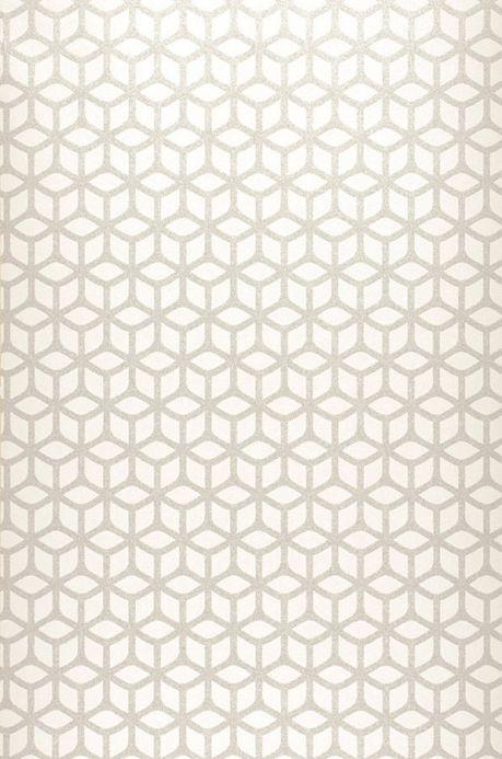 Papier peint billes de verre Papier peint Zelor blanc crème Largeur de lé