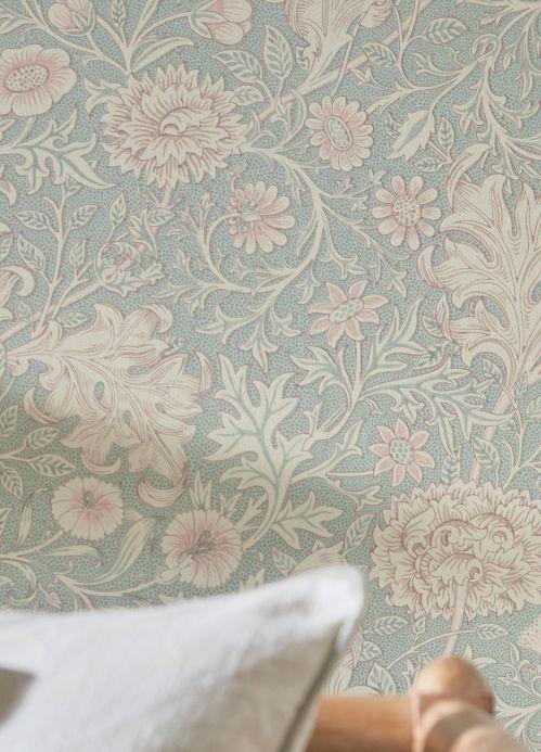 Papel de parede Papel de parede Karoline turquesa pálido Ver quarto