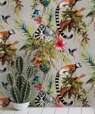 Papier peint Madagascar argenté Vue pièce
