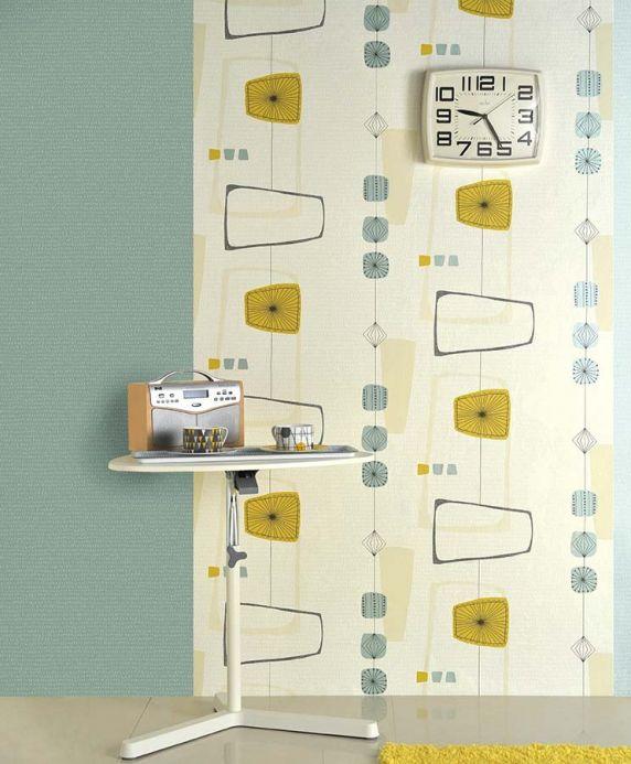 Archiv Wallpaper Isola honey yellow Room View