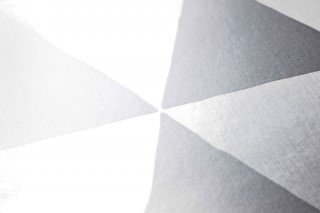 Papel de parede Eulan Brilhante Triângulos Prata lustre Prata brilhante