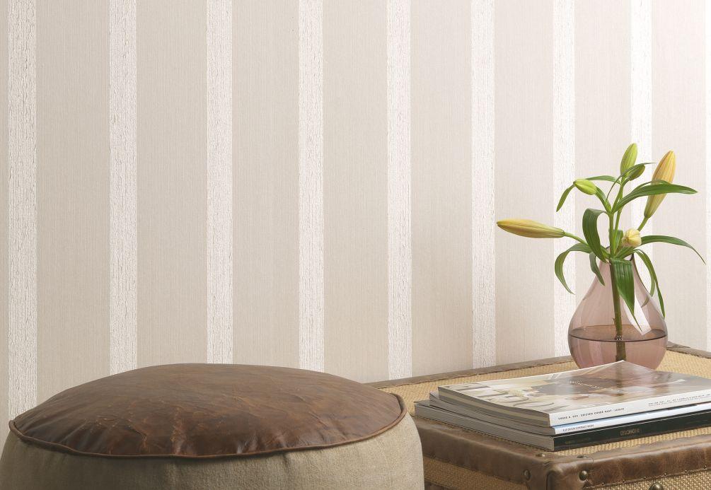 Textile wallpaper Wallpaper Severus cream Room View