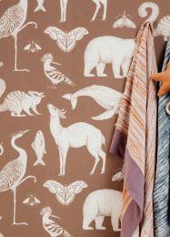 Papel pintado Animal marrón beige