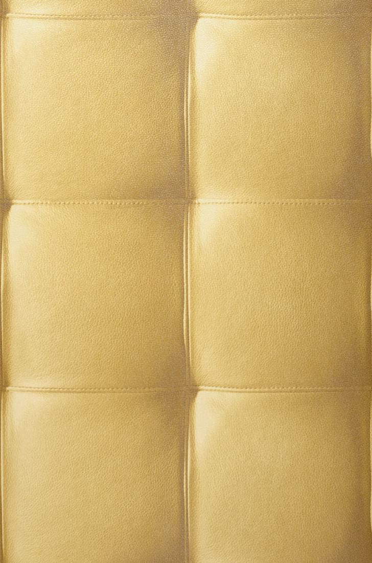 Papier peint kadmos jaune curry vert marron papier for Papier peint cuir marron