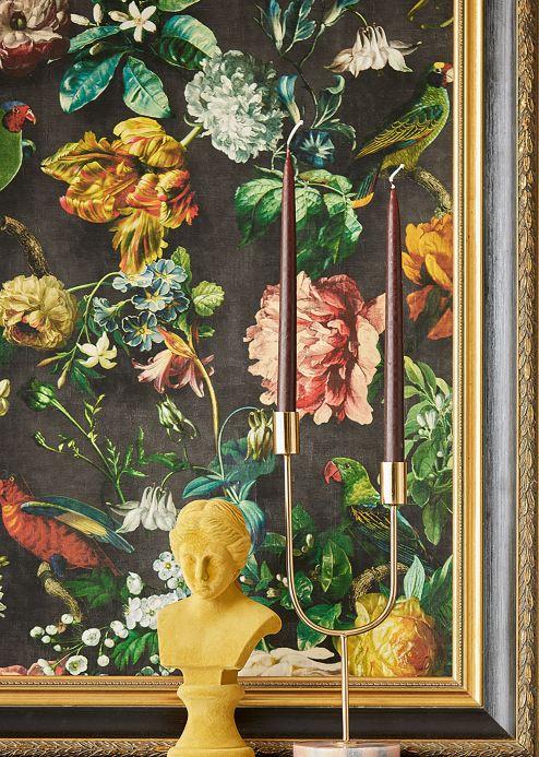 Wallpaper Wallpaper Margarete black grey Room View