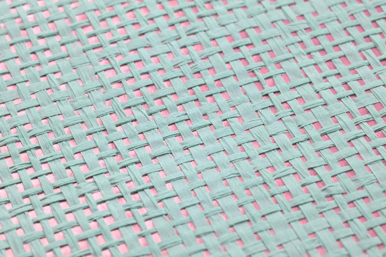 Papel pintado mystic weave 03 rosa viejo verde claro for Papel pintado de los 70