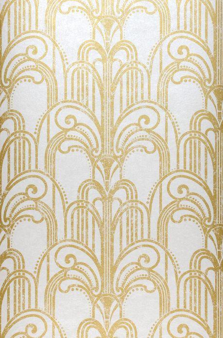 Carta da parati classica Carta da parati Emilia oro perlato Larghezza rotolo