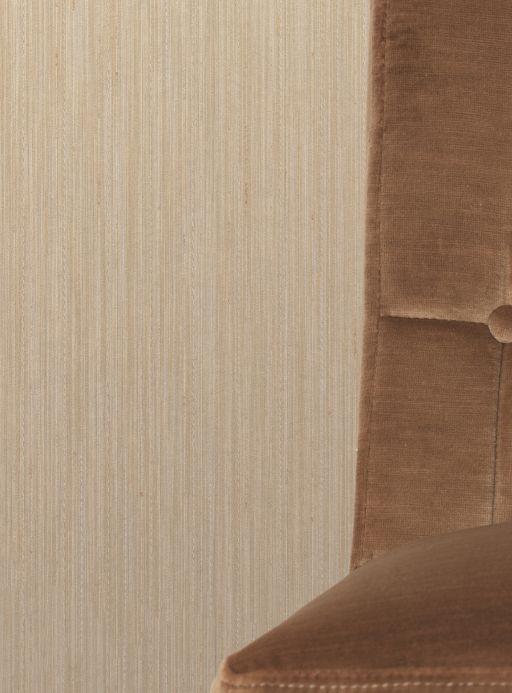 Papier peint textile Papier peint Shanti beige clair Vue pièce