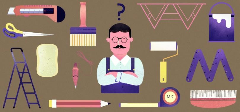 Les outils pour poser du papier peint présentés en détail : la seringue à colle