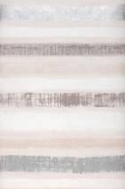 Papel pintado Zitor Mate Rayas cruzadas Gris beige Blanco parduzco Blanco crema Gris oscuro perla