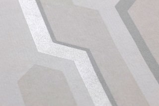 Wallpaper Captain Future Matt Geometrical elements Grey white Pale grey Light pastel turquoise Moss grey Silver shimmer