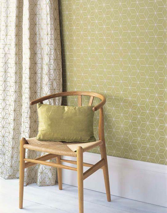 Archiv Wallpaper Hemsut light green Room View