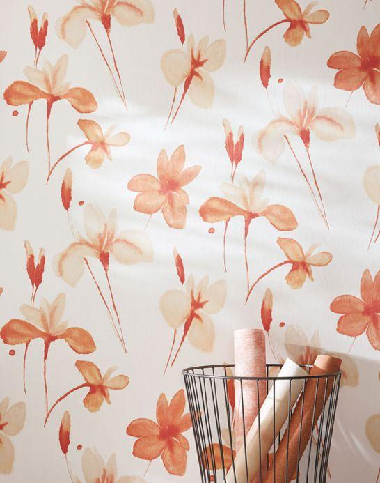 Archiv Wallpaper Tiara pale orange Room View