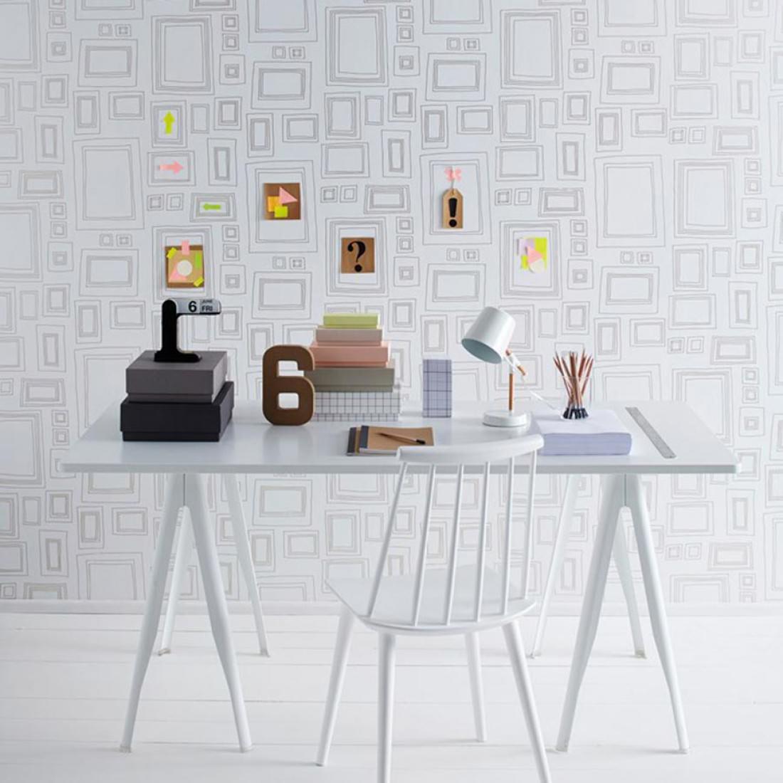 Frames blanco oro papel pintado rom ntico patrones - Papeles pintados de los 70 ...