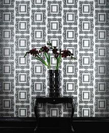 Wallpaper Mirror black grey