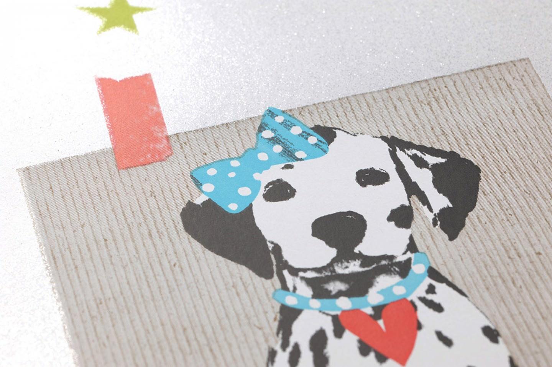 Carta Da Parati Bambini Fanny Dogs: Carta Da Parati Dogs And Cats (Bianco, Verde Giallastro