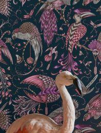 Papel de parede Audubon violeta