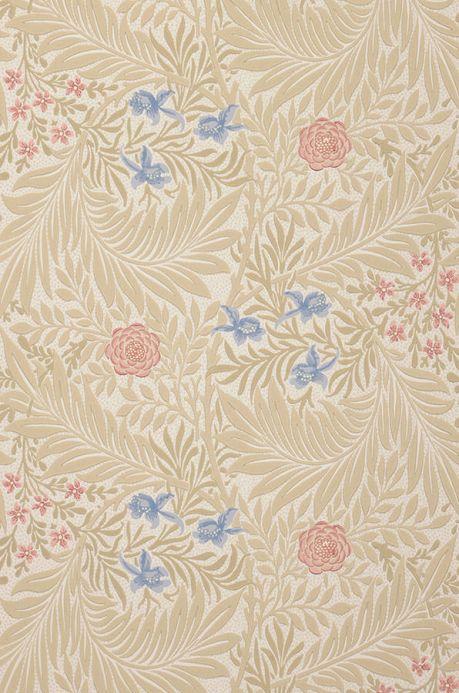 Papel pintado floral Papel pintado Kari beige Ancho rollo