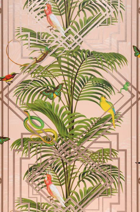 Carta da parati glamour Carta da parati Grace toni di verde Larghezza rotolo