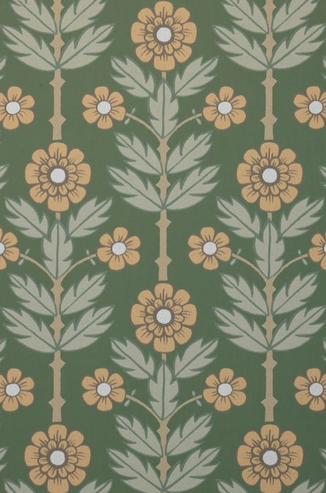 Papier peint Papier peint Magdalena vert pin Détail A4
