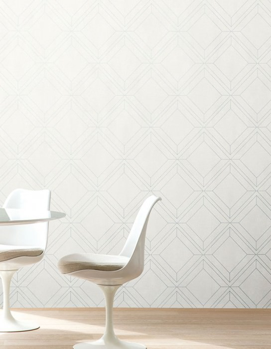 Wallpaper Malekid Matt Graphic elements White Pearl dark grey