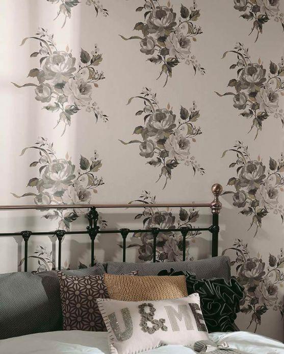 Archiv Wallpaper Olesia grey Room View