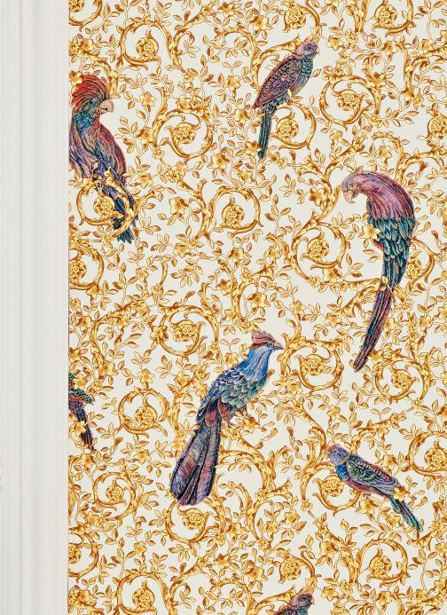 Papier peint de Versace Papier peint Adriana jaune clair Vue pièce