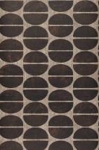 Papel pintado Rongo Mate Elementos gráficos Marrón grisáceo pálido Marrón chocolate Marrón negruzco