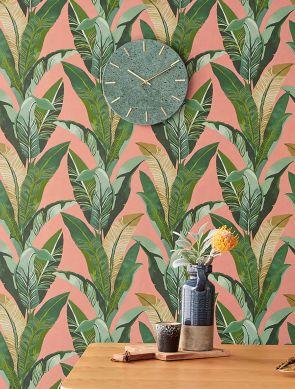 Wallpaper Lasita beige red Room View