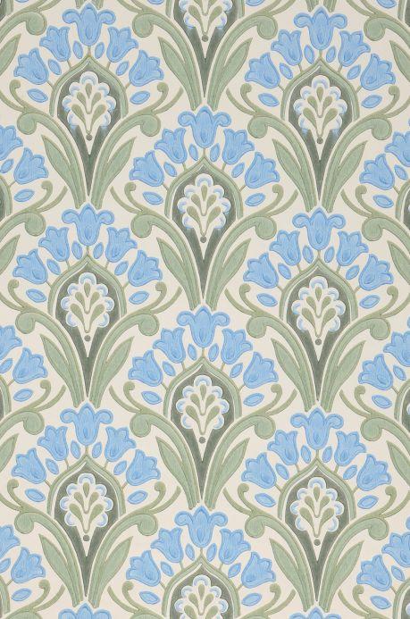 Papel de parede Art Nouveau Papel de parede Florence azul pastel Detalhe A4