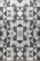 Wallpaper Sirius Matt Geometrical elements Cream Grey tones