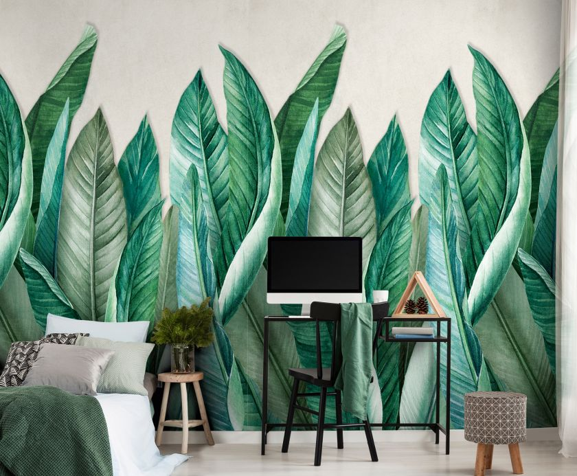 Wallpaper patterns Wall mural Amazonas shades of green Room View