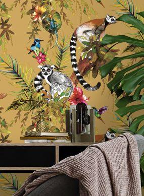 Papel de parede Madagascar amarelo areia Raumansicht