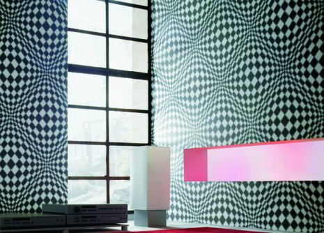 op art les motifs excentriques des sixties blog lookbook papier peint des ann es 70. Black Bedroom Furniture Sets. Home Design Ideas