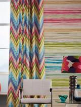 Wallpaper Cosima Matt Stripes Cream Brown beige Heather violet Yellow green Light grey beige Orange Pink